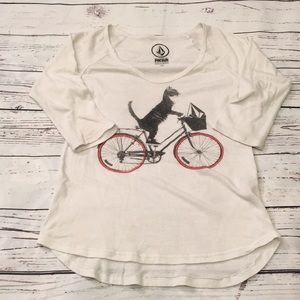 Volcom bicycle cat tee